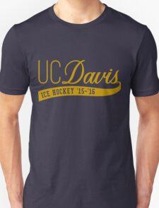 UC Davis Ice Hockey Varsity-style Logo T-Shirt