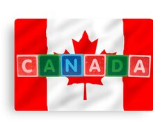 canada and flag in toy block letters Canvas Print