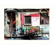 Bicycle rikshaw, Calcutta, India Art Print