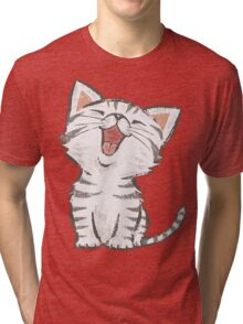 American Shorthair happy Tri-blend T-Shirt