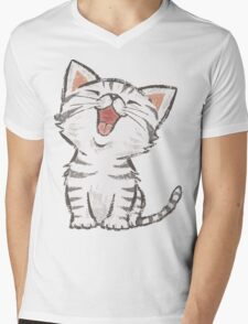 American Shorthair happy Mens V-Neck T-Shirt