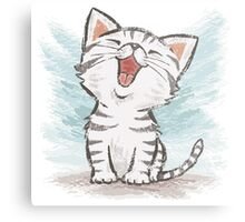 American Shorthair happy Metal Print