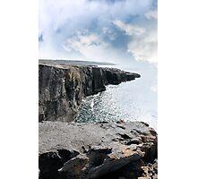 clare cliff edge view Photographic Print