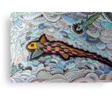 347 - RABBITFISH DESIGN - DAVE EDWARDS - COLOURED PENCILS & FINELINERS - 2012 Canvas Print