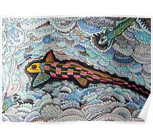 347 - RABBITFISH DESIGN - DAVE EDWARDS - COLOURED PENCILS & FINELINERS - 2012 Poster