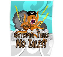 Octopus Tells no Tales! Blue Sky Version Poster