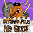 Octopus Tells no Tales! Purple Sky Version by creativeburn