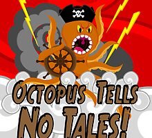 Octopus Tells no Tales! Red Sky Version by creativeburn