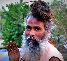 Sadhu Baba's Blessing, Haridwar, India by not-home.com - We Travel