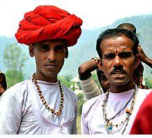 Men from Rajastan in Rishikesh, India Photographic Print