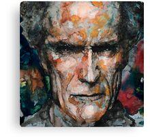 Clint Eastwood 2 Canvas Print
