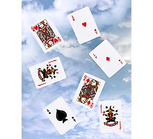 cloud gaming with playing cards Photographic Print