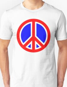 Red, White, and Blue Peace Sign Unisex T-Shirt
