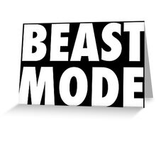 Beast Mode Greeting Card