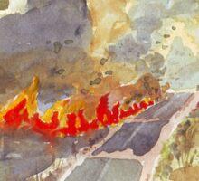 Veldfire in Magaliesburg Sticker