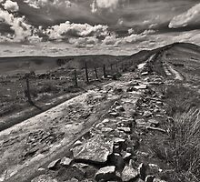 Broken Wall On The Ridge by Darren Burroughs