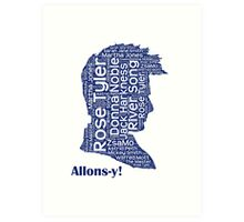Allons-y, 10th Doctor, Doctor Who Art Print