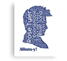 Allons-y, 10th Doctor, Doctor Who Canvas Print