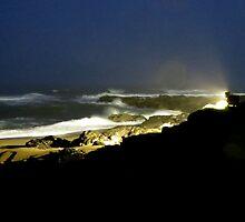 Night Ocean...Yachats, Oregon by trueblvr