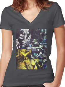 netero vs meruem Women's Fitted V-Neck T-Shirt