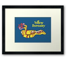 Yellow Serenity Framed Print
