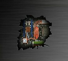 Electrical insides wall crack  by ALIANATOR