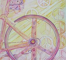 Back Biking with Peace, Love, & Flowers by Jeanne Allgood