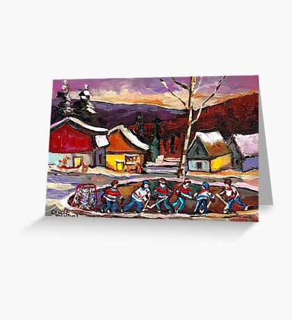 POND HOCKEY 4 Greeting Card