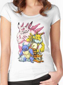 Pokemon Aren't Cute in Battle Women's Fitted Scoop T-Shirt