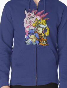 Pokemon Aren't Cute in Battle Zipped Hoodie
