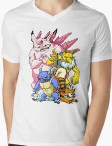 Pokemon Aren't Cute in Battle Mens V-Neck T-Shirt