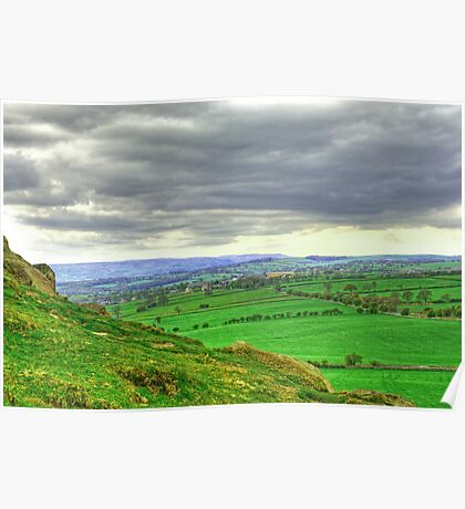 View from Almscliff Crag #3. Poster