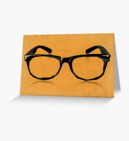 Geek Glasses Greeting Card