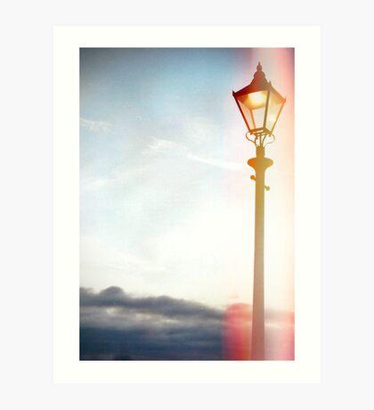 Lomo Lamp post Art Print