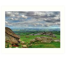 View from Almscliff Crag #4 Art Print