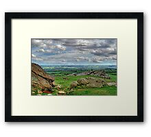 View from Almscliff Crag #4 Framed Print