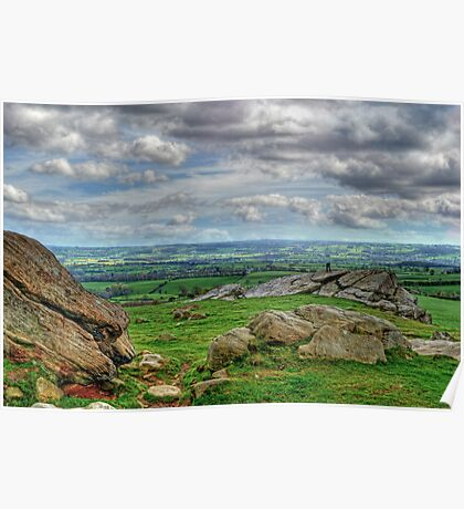 View from Almscliff Crag #4 Poster
