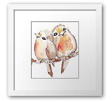 Two Little Birds 2 Framed Print