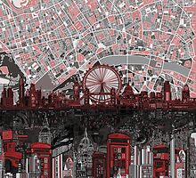London skyline abstract 4 by BekimART