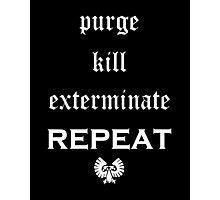 Purge-kill-exterminate white, Warhammer 40K Photographic Print