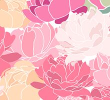 Vintage Rose Peony Flower Pattern Sticker