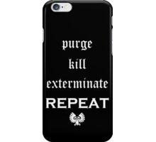 Purge-kill-exterminate white, Warhammer 40K iPhone Case/Skin