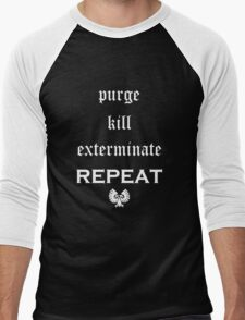 Purge-kill-exterminate white, Warhammer 40K Men's Baseball ¾ T-Shirt