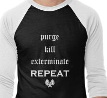 Purge-kill-exterminate white, Warhammer 40K Men's Baseball ¾ T-Shirt