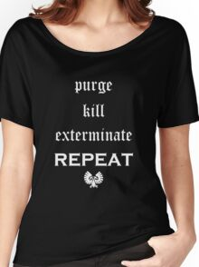 Purge-kill-exterminate white, Warhammer 40K Women's Relaxed Fit T-Shirt
