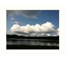 Clouds over Orcas Island, Washington Art Print