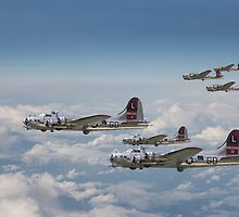 B17- 381st Group Outbound by Pat Speirs