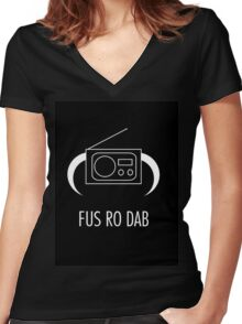 FUS RO DAB! Women's Fitted V-Neck T-Shirt