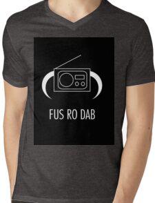 FUS RO DAB! Mens V-Neck T-Shirt