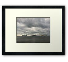 Above water and closer to the sky along the way Framed Print